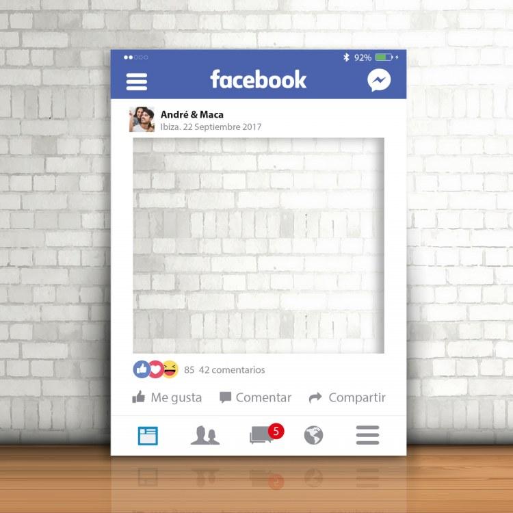 Photocall marco Facebook para boda | lafabricadelasbodas